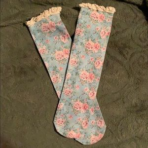 Accessories - Lace and Floral Socks